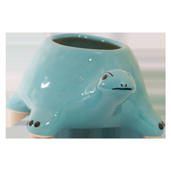 Ceramic Tortoise Blue Colour Pot