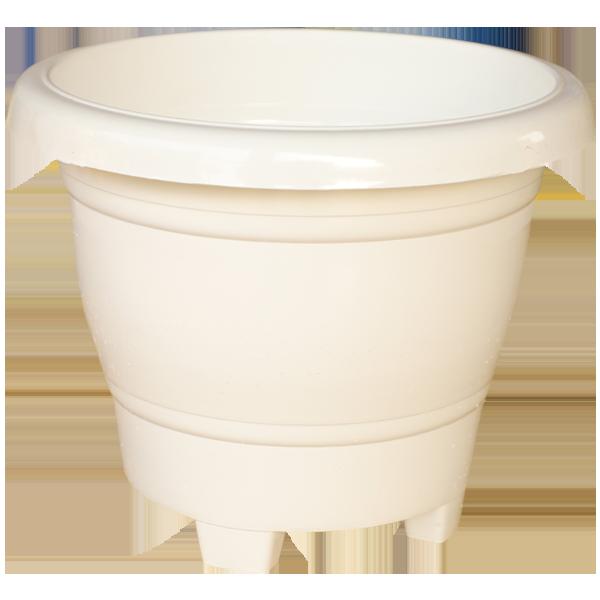 Plastic Kunal Pot White 12 Inches