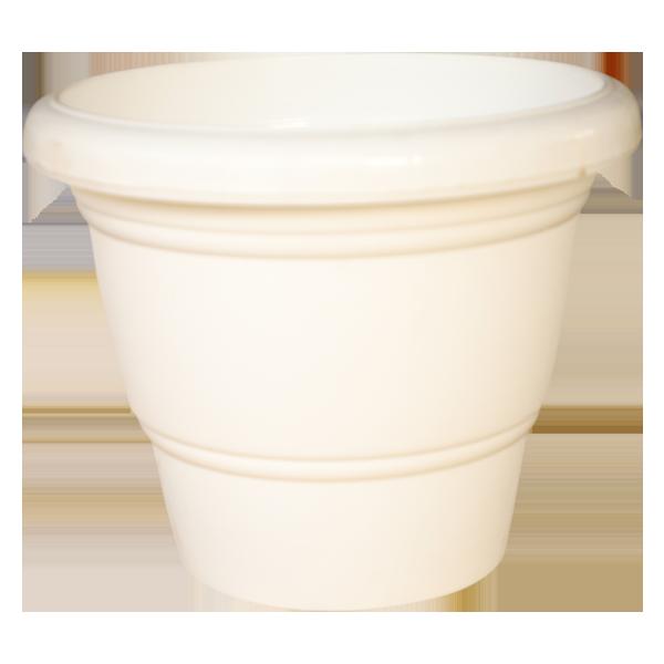 Plastic White Pot 16 Inches
